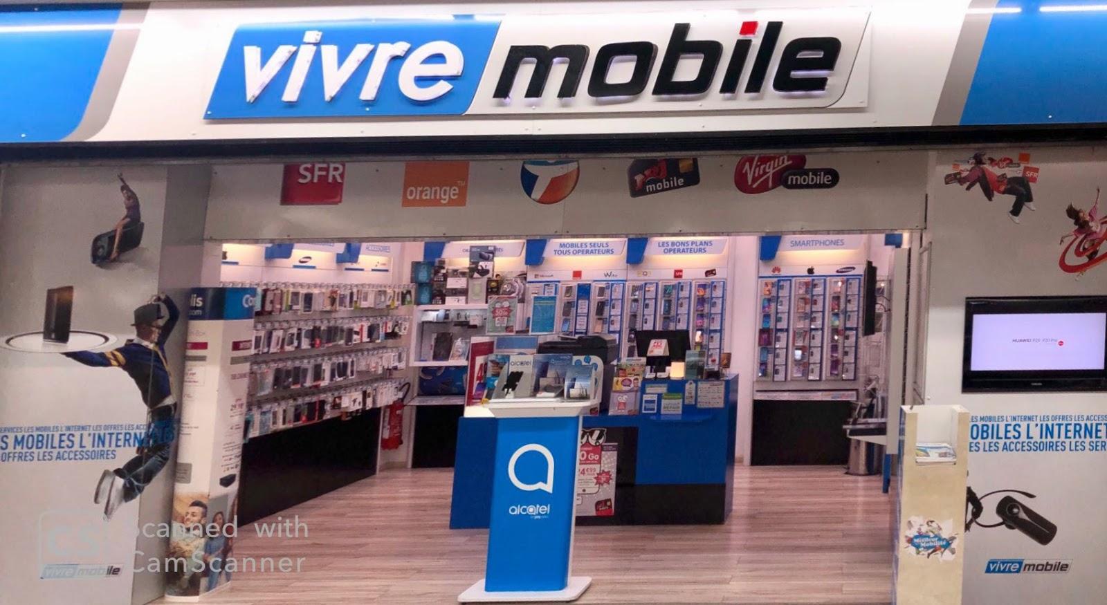 photo de la boutique de Vivre Mobile Vente téléphones Forfait Service de réparation reparateur iPhone Ipad Samsung Huawei...